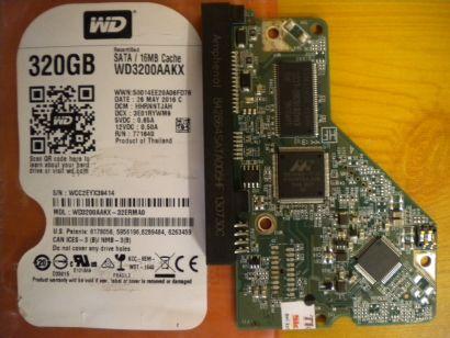 WD Caviar WD3200AAKX-32ERMA0 SATA 320GB PCB Controller-Elektronik Platine* fe13