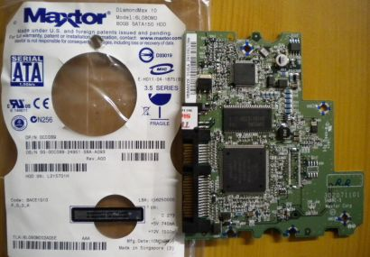 Maxtor DiamondMax 10 6L80M0 SATA 80GB PCB Controller-Elektronik Platine* fe25