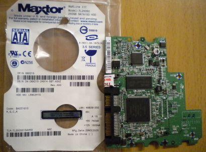Maxtor MaxLine III 7L250S0 SATA 250GB PCB Controller-Elektronik Platine* fe34