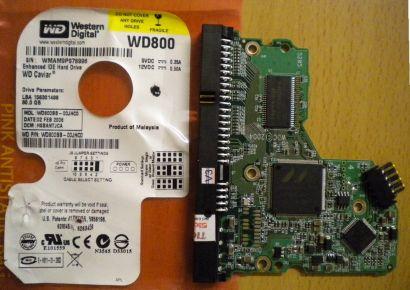 WD Caviar WD800BB-00JHC0 IDE 80GB PCB Controller-Elektronik Platine* fe48