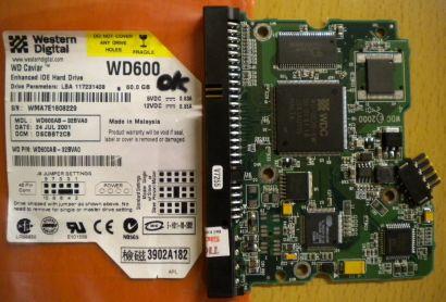 WD Caviar WD600AB-32BVA0 IDE 60GB PCB Controller-Elektronik Platine* fe49