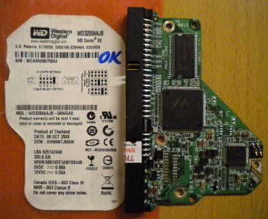WD Caviar WD3200AAJB-56WGA0 IDE 320GB PCB Controller-Elektronik Platine* fe51