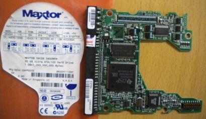 Maxtor 541DX WAH21PBO 2B020H1 IDE 20GB PCB Controller Elektronik Platine* fe56