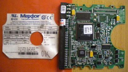 Maxtor 34098H4 YAH814Y0 IDE 40.9GB PCB Controller Elektronik Platine*fe59