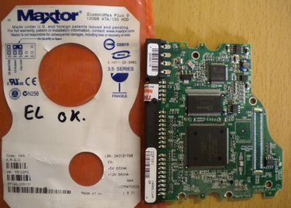 Maxtor DiamondMax Plus 9 6Y120L0 031011 PCB Controller Elektronik Platine* fe65