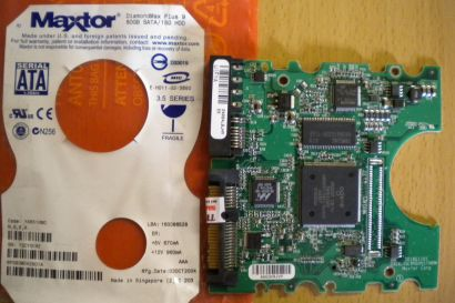 Maxtor DiamondMax Plus 9 6Y080M0 42601A PCB Controller Elektronik Platine* fe66