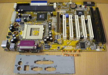 Gigabyte GA-6VXE7+ Rev 3.0 Mainboard +Blende Sockel 370 2x ISA AGP PCI USB* m698