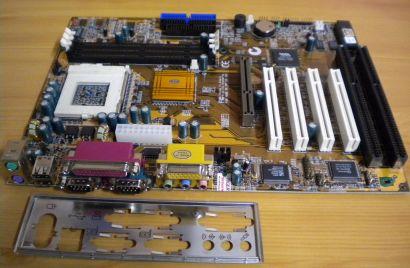 ECS Elitegroup P6BAP-A+ Rev 1.0 Mainboard +Blende Sockel 370 2x ISA AGP PCI*m699
