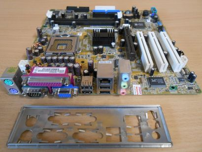 Asus P5S800-VM S Rev 1.01 Mainboard +Blende Sockel 775 SATA AGP VGA LAN Aud*m702