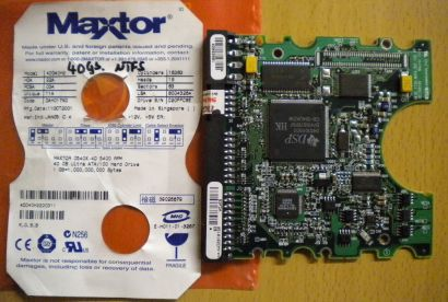Maxtor 541DX 4D040H4 DAH017K0 IDE 40GB PCB Controller Elektronik Platine* fe81