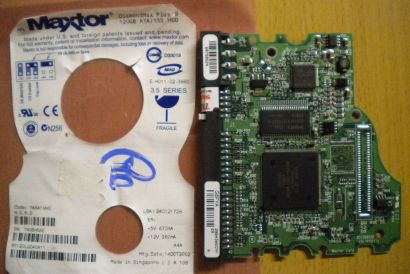 Maxtor DiamondMax Plus 9 6Y120L0 040411 PCB Controller Elektronik Platine* fe85