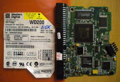 Western Digital WD200EB-00BHF0 IDE 20 GB PCB Controller Elektronik Platine* fe89