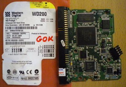 Western Digital WD200EB-11CPF0 IDE 20 GB PCB Controller Elektronik Platine* fe91