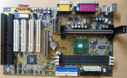 Chaintech 6ATA2-E100A Mainboard +Blende Slot 1 Apollo133A 2x ISA AGP Audio*m709