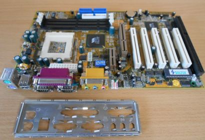 Soltek SL-65DVB Mainboard +Blende Sockel 370 VIA Apollo ISA AGP PCI Audio* m710