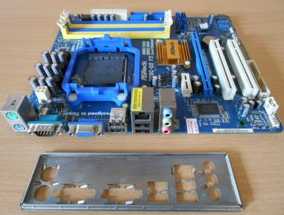ASRock N68C-GS FX Rev1.05 Mainboard +Blende Sockel AM3+ VGA Audio DDR2 DDR3*m711