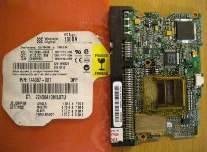 WD Expert WD100BA-60AK IDE 10GB PCB Controller Elektronik Platine* fe103