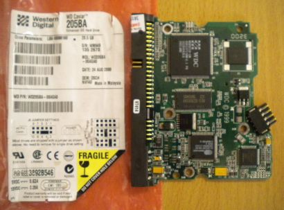 WD Caviar WD205BA-00AGA0 IDE 20.5GB PCB Controller Elektronik Platine* fe105