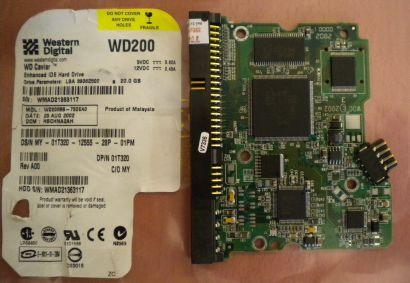 Western Digital WD200BB-75DEA0 IDE 20 GB PCB Controller Elektronik Platine*fe106