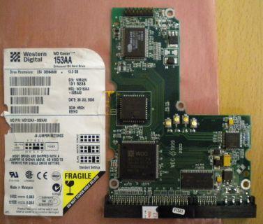 WD Caviar WD153AA-00BAA0 IDE 15.3 GB PCB Controller Elektronik Platine* fe110