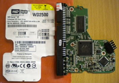 WD Caviar WD2500JB-00RAE0 IDE 250GB PCB Controller Elektronik Platine* fe123