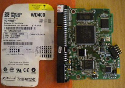 WD Caviar WD400EB-00CPF0 IDE 40GB PCB Controller Elektronik Platine* fe124