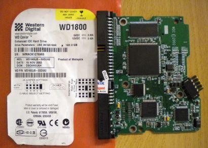 WD Caviar WD1800JB-00DUA0 IDE 180GB PCB Controller Elektronik Platine* fe125