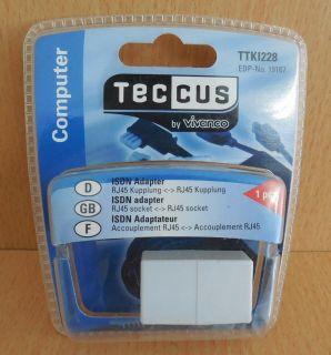 Teccus by Vivanco TTKI228 ISDN Adapter RJ45 Kupplung - RJ45 Kupplung* so535