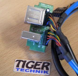 Chieftec 2x USB 2.0 und 1x FireWire 400 6-pol IEEE 1394a Front IO* pz250
