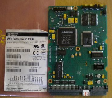 WD Enterprise WDE4360-1807A3 SCSI 4.36GB PCB Controller Elektronik Platine*fe130
