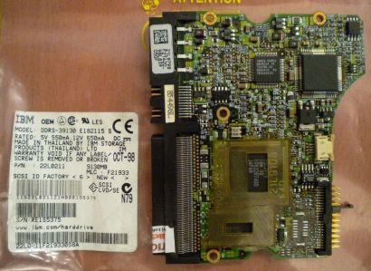IBM DDRS-39130 E182115 S SCSI 9130MB PCB Controller Elektronik Platine* fe136