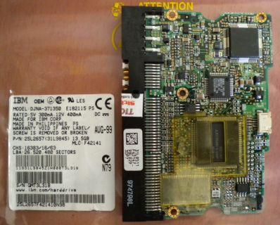 IBM DJNA-371350 E182115 PS IDE 13.5GB PCB Controller Elektronik Platine* fe138