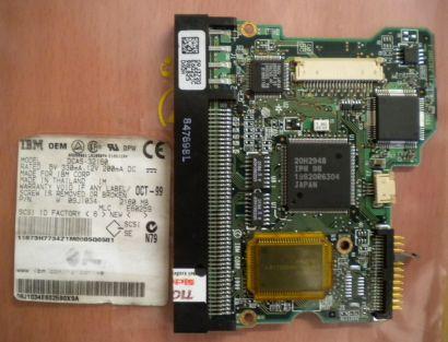 IBM DCAS-32160 2160MB PN 09J1034 SCSI PCB Controller Elektronik Platine* fe140