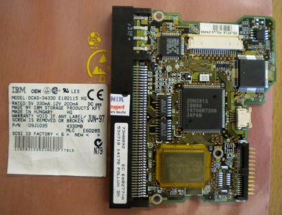 IBM DCAS-34330 E182115 HG SCSI 4330MB PCB Controller Elektronik Platine* fe141