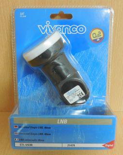 Vivanco STL US3B Universal Single LNB 40mm digital 0,2 dB Low High-Band* so539