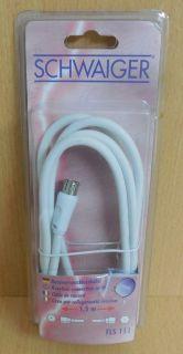 Schwaiger FLS111 Receiveranschluss SAT Kabel weiß 1,5m F-Stecker F-Stecker*so540