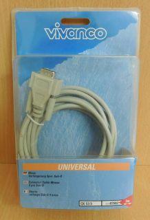 Vivanco 9-pol Sub-D Verlängerungskabel Universal Maus Modem voll geschirmt*So547