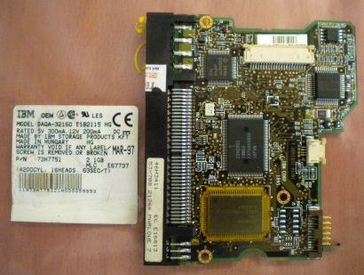 IBM DAQA-32160 E182115 HG 73H7751 IDE PCB Controller Elektronik Platine* fe153