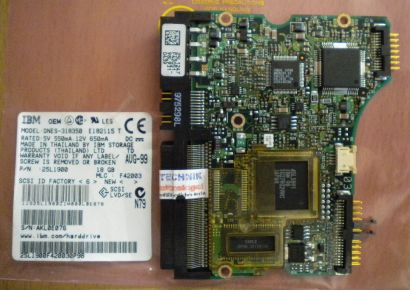 IBM DNES-318350 E182115 T SCSI 18GB PCB Controller Elektronik Platine* fe154