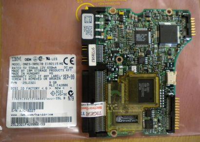 IBM DNES-309170 E182115 HG SCSI 9GB PCB Controller Elektronik Platine* fe155