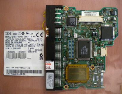 IBM OEM DHEA-36481 E182115 HG IDE 6.4GB PCB Controller-Elektronik Platine* fe156