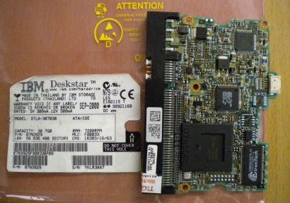 IBM DTLA-307030 07N3929 IDE 30.7GB PCB Controller Elektronik Platine* fe158