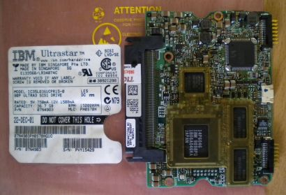 IBM IC35L036UCPR15-0 SCSI 80pin 36.7GB PCB Controller- Elektronik Platine* fe159
