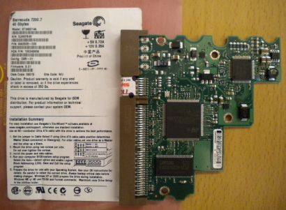 Seagate Barracuda ST340014A IDE 40GB PCB Controller Elektronik Platine* fe173