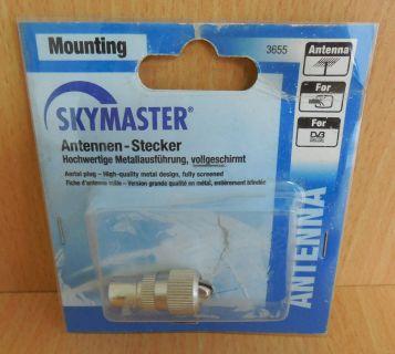 Skymaster Metal Antennen Stecker Metallausführung hochwertig vollgeschirmt*so584
