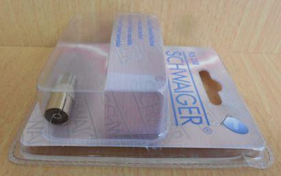 Schwaiger FLS350 Adapter F Buchse Kupplung Koax Kupplung Buchse IEC metall*so586