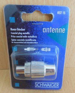 Schwaiger KST15 121 Koax-Stecker IEC Metall Koax Stecker Schraubanschluss* so593