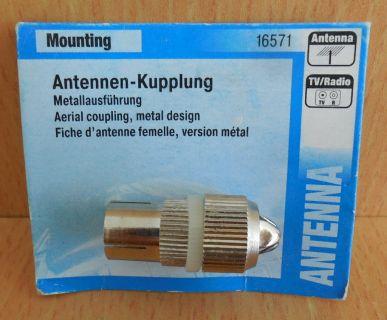 Skymaster Antennen-Kupplung Koax Kupplung Metall Antennen Kupplung* so601