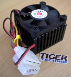 TITAN Sockel AMD 462 A Intel 370 50mm Molex Prozessorkühler CPU Lüfter* ck189