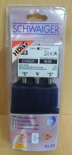 Schwaiger FLS572 SAT Umschaltbox DiSEqC 1.0 Schalter Verteiler 2 auf 1* so609